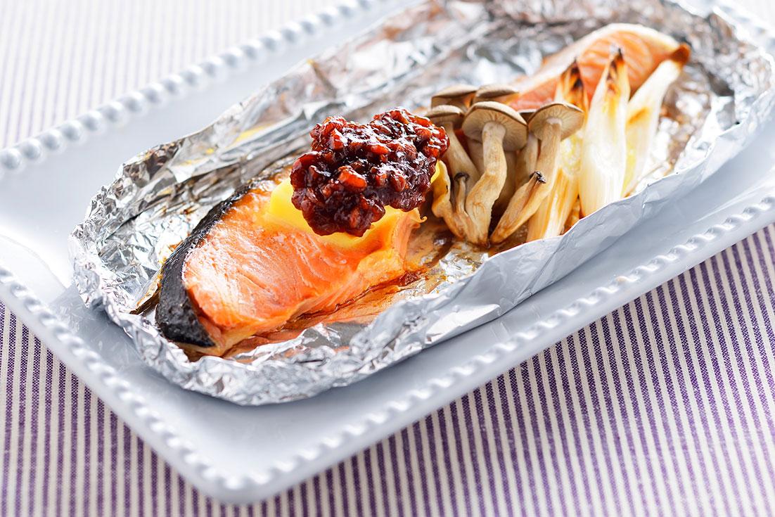 鮭のしょうゆの実焼き