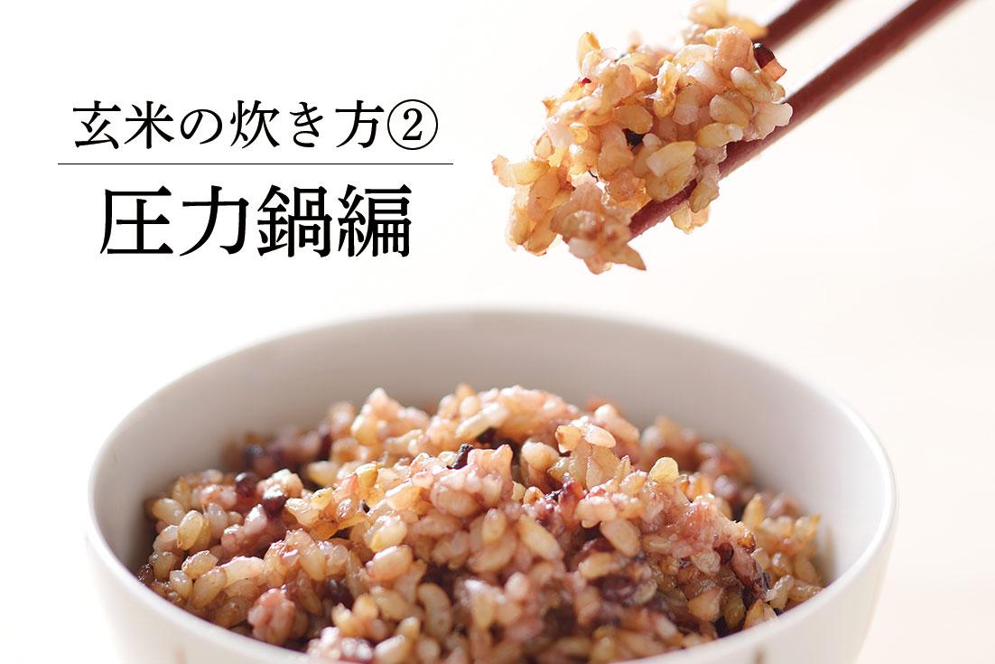 玄米炊き比べ(圧力鍋編)