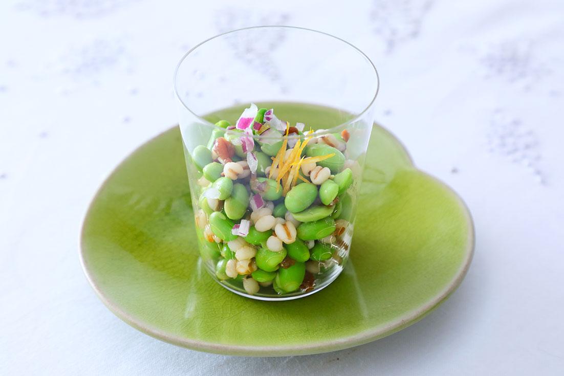枝豆とはと麦のプチプチサラダ