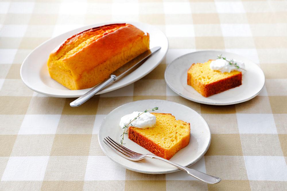 にんじんとあしたばのパウンドケーキ