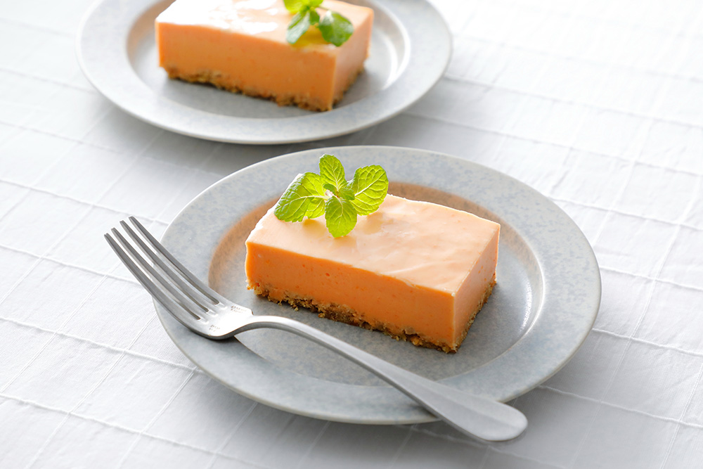 にんじんとあしたばのチーズケーキ