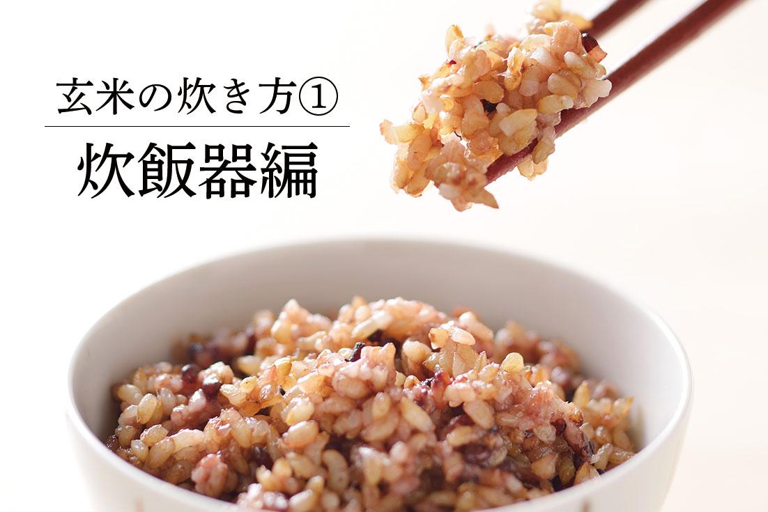 玄米炊き比べ(炊飯器編)